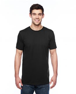 Anvil_351_Black_Mens_Featherweight_Crewneck_Short_Sleeve_T-Shirt3