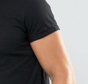 raw edges tshirt curved hem
