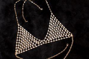 Rhinestone Bra Body Jewelry Pretty Bikini Gypsy Top Harness Rhinestone Bra Body Chest Chain Necklace Jewelry