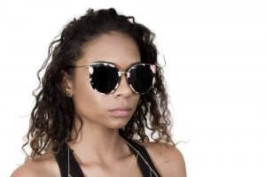 Retro Round Cat Eye  Women Designer Eyewear Metal Frame UV400 Glasses