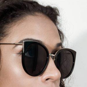 Retro Round Cat Eye Women Designer Eyewear Metal Frame UV400 Glasses